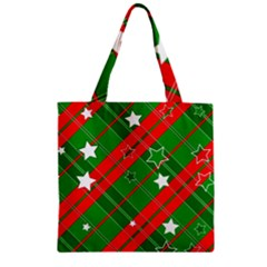 Background Abstract Christmas Zipper Grocery Tote Bag