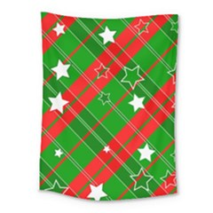 Background Abstract Christmas Medium Tapestry