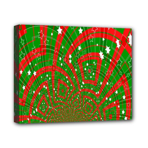 Background Abstract Christmas Pattern Canvas 10  X 8  by Nexatart