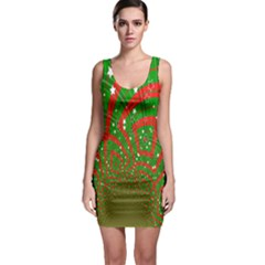Background Abstract Christmas Pattern Sleeveless Bodycon Dress