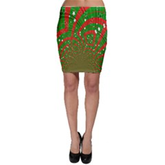 Background Abstract Christmas Pattern Bodycon Skirt