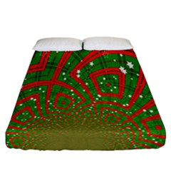Background Abstract Christmas Pattern Fitted Sheet (california King Size) by Nexatart