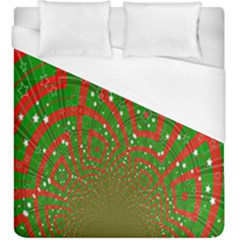 Background Abstract Christmas Pattern Duvet Cover (king Size) by Nexatart