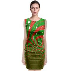 Background Abstract Christmas Pattern Classic Sleeveless Midi Dress