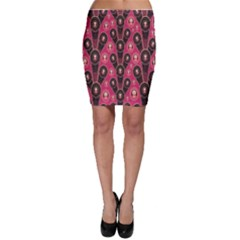 Background Abstract Pattern Bodycon Skirt