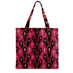 Background Abstract Pattern Zipper Grocery Tote Bag by Nexatart