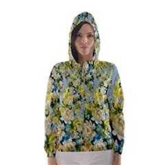 Background Backdrop Patterns Hooded Wind Breaker (women)