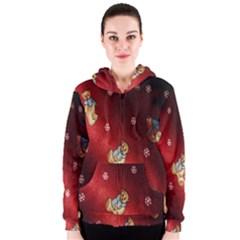 Background Fabric Women s Zipper Hoodie