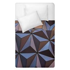 Background Geometric Shapes Duvet Cover Double Side (single Size) by Nexatart