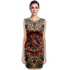 Background Metallizer Pattern Art Classic Sleeveless Midi Dress