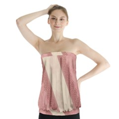 Background Pink Great Floral Design Strapless Top by Nexatart