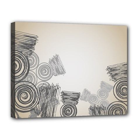 Background Retro Abstract Pattern Canvas 14  X 11  by Nexatart