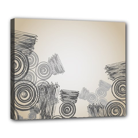 Background Retro Abstract Pattern Deluxe Canvas 24  X 20