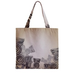 Background Retro Abstract Pattern Zipper Grocery Tote Bag by Nexatart