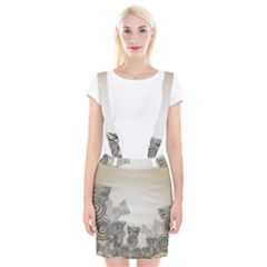 Background Retro Abstract Pattern Suspender Skirt