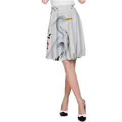 Background Scrapbook Paper Asian A Line Skirt