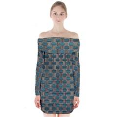 Background Vert Long Sleeve Off Shoulder Dress