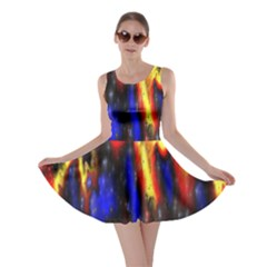 Banner Header Plasma Fractal Skater Dress