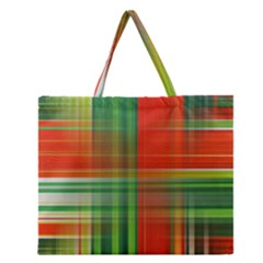 Background Texture Structure Green Zipper Large Tote Bag by Nexatart