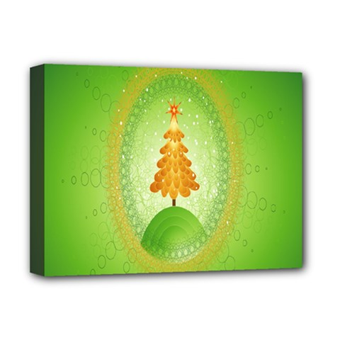 Beautiful Christmas Tree Design Deluxe Canvas 16  X 12   by Nexatart