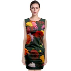 Beautifull Flowers Classic Sleeveless Midi Dress