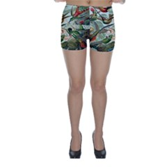 Beautiful Bird Skinny Shorts