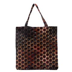 Beehive Pattern Grocery Tote Bag