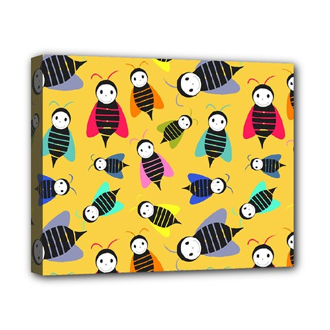 Bees Animal Pattern Canvas 10  X 8