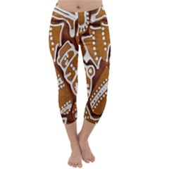 Biscuit Brown Christmas Cookie Capri Winter Leggings