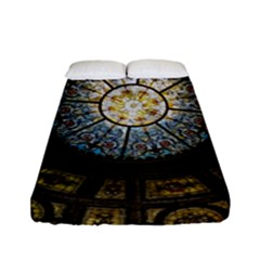 Black And Borwn Stained Glass Dome Roof Fitted Sheet (full/ Double Size) by Nexatart