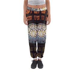 Black And Borwn Stained Glass Dome Roof Women s Jogger Sweatpants
