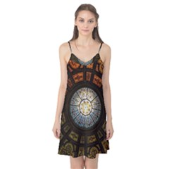 Black And Borwn Stained Glass Dome Roof Camis Nightgown by Nexatart