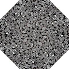 Black And White Art Pattern Historical Straight Umbrellas by Nexatart