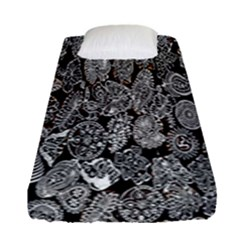 Black And White Art Pattern Historical Fitted Sheet (single Size) by Nexatart