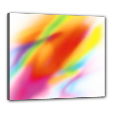 Blur Color Colorful Background Canvas 24  X 20