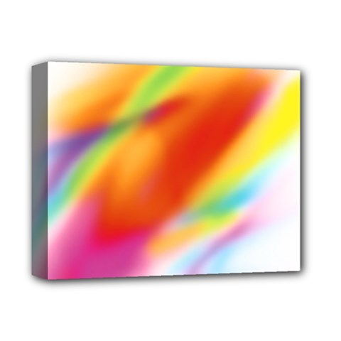 Blur Color Colorful Background Deluxe Canvas 14  X 11  by Nexatart