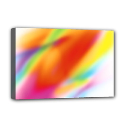 Blur Color Colorful Background Deluxe Canvas 18  X 12