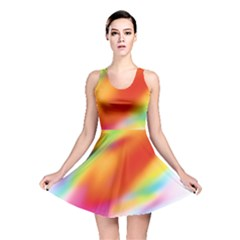 Blur Color Colorful Background Reversible Skater Dress