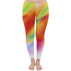 Blur Color Colorful Background Classic Winter Leggings by Nexatart