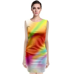 Blur Color Colorful Background Classic Sleeveless Midi Dress