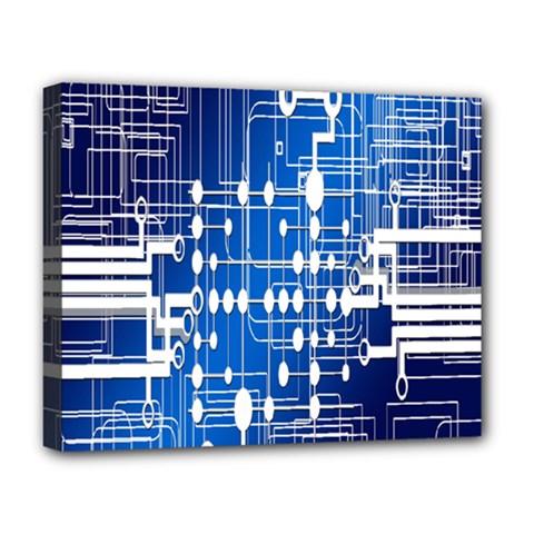Board Circuits Trace Control Center Deluxe Canvas 20  X 16