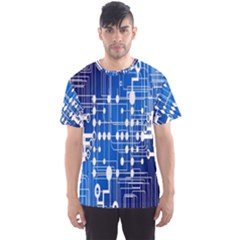 Board Circuits Trace Control Center Men s Sport Mesh Tee