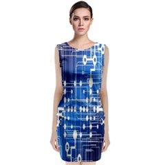 Board Circuits Trace Control Center Classic Sleeveless Midi Dress