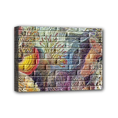 Brick Of Walls With Color Patterns Mini Canvas 7  X 5