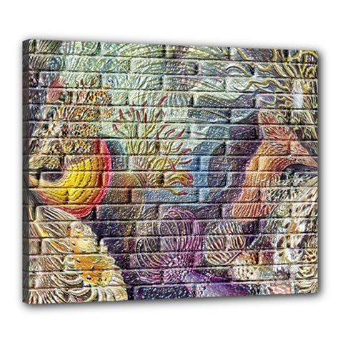 Brick Of Walls With Color Patterns Canvas 24  X 20