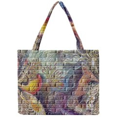 Brick Of Walls With Color Patterns Mini Tote Bag by Nexatart