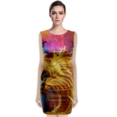 Broncefigur Golden Dragon Classic Sleeveless Midi Dress