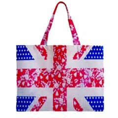British Flag Abstract Zipper Mini Tote Bag