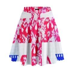 British Flag Abstract High Waist Skirt
