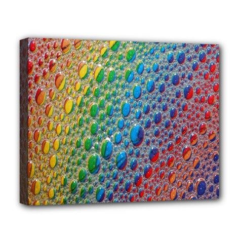 Bubbles Rainbow Colourful Colors Deluxe Canvas 20  X 16